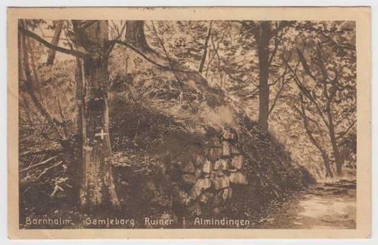 bornholm-gamleborg-ruiner-i-almindingen-roenne-jbpe-1925